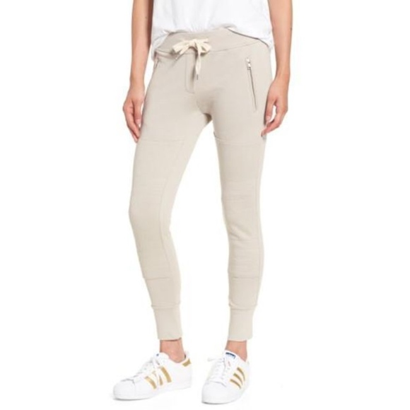 fe9aabbe55b7 Sincerely Jules Pants - Sincerely Jules Lux Moto Jogger - Size Small Beige